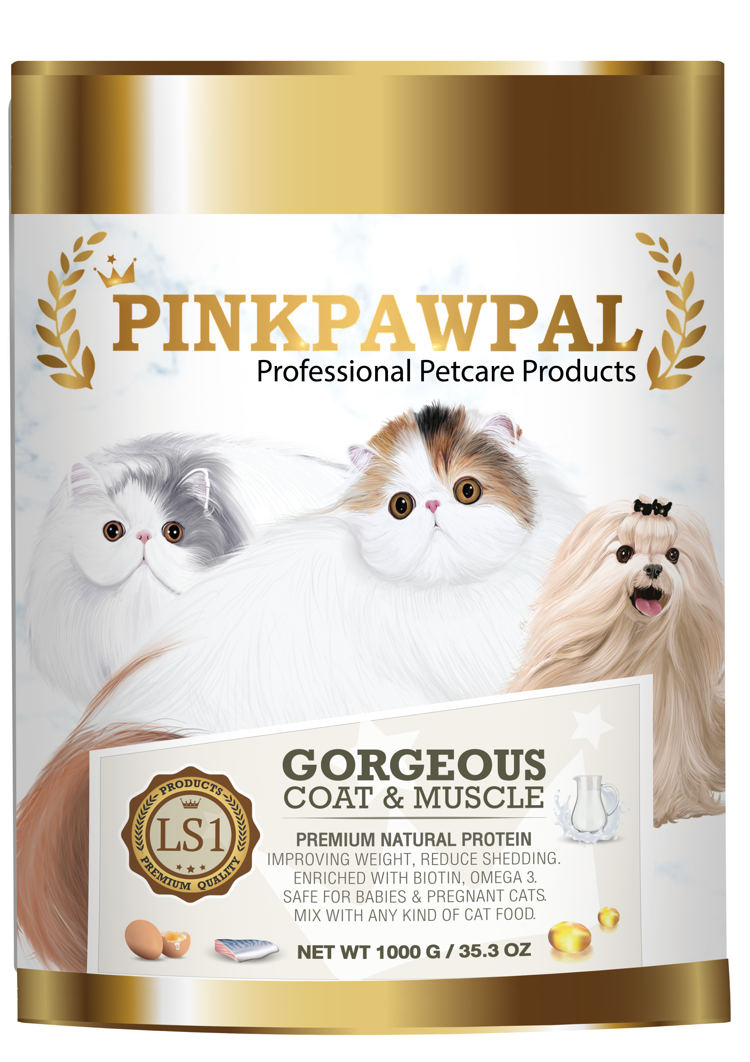 Gorgeous Coat & Muscle Pet Supplement 1000mg