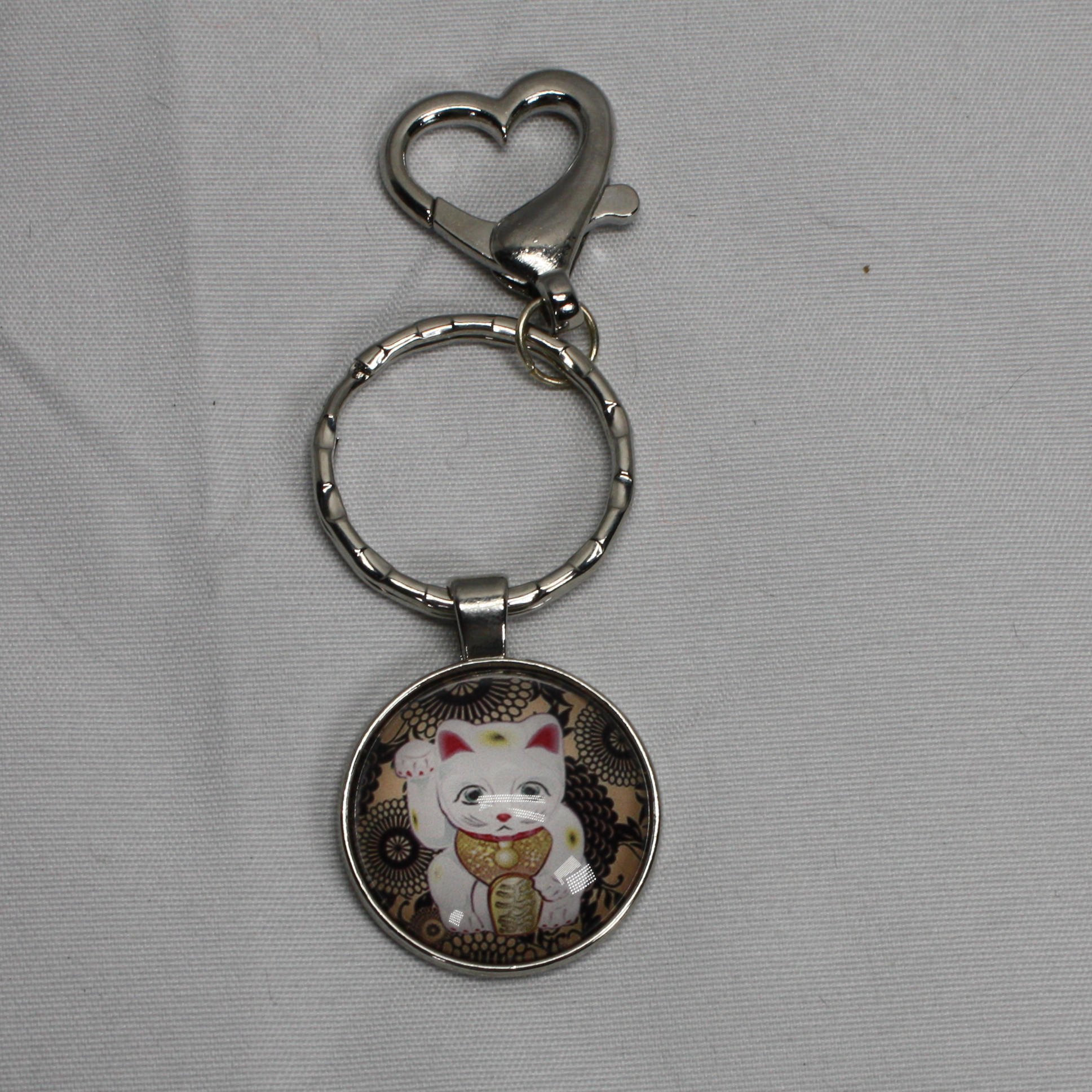 Chinese Kitty keychain