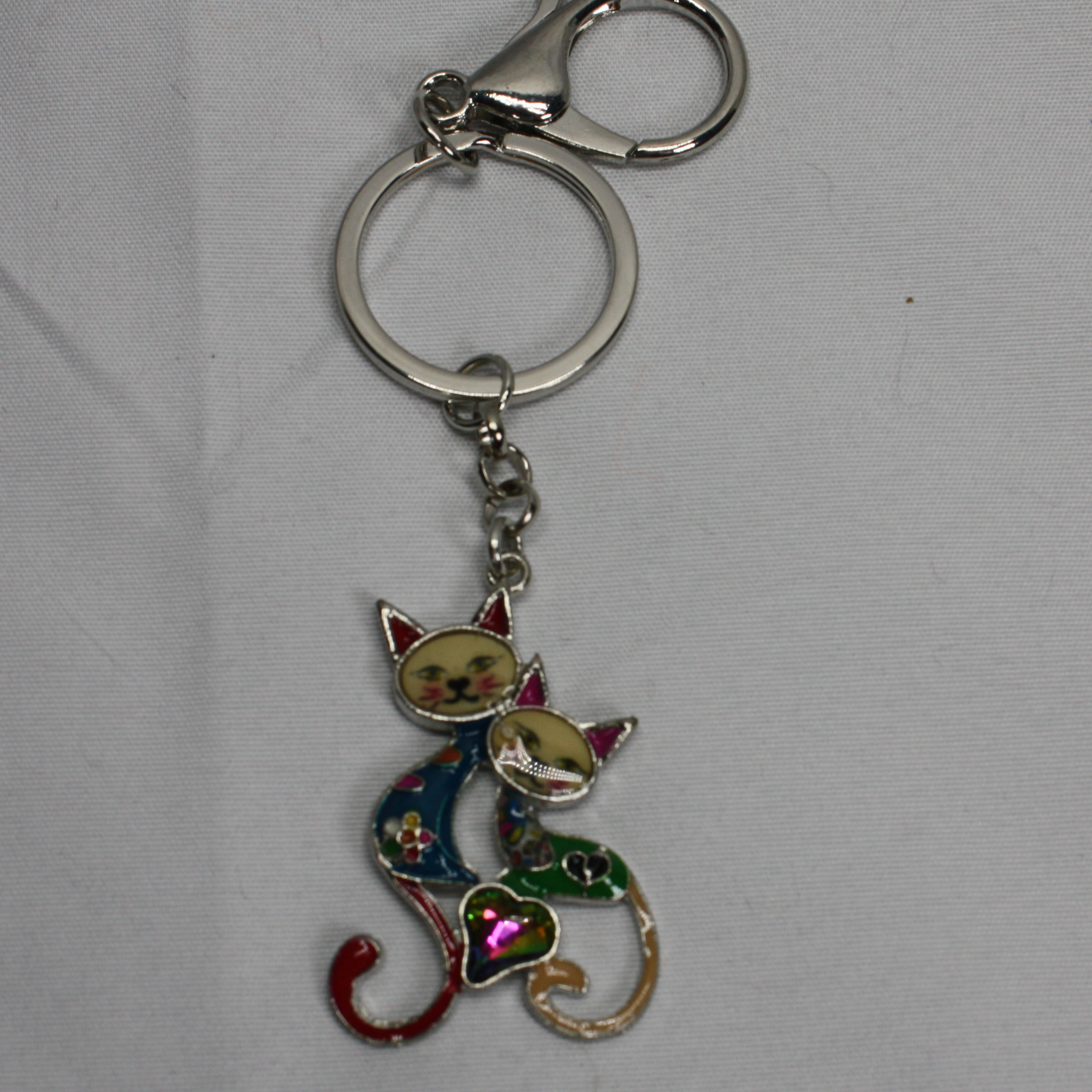 Two cat key chain